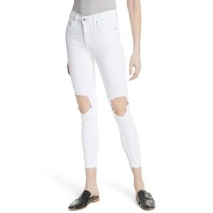 NWT Free People High-Rise Busted Skinny Jeans24/25